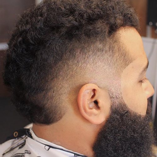 Burst Mohawk Hairstyles For Men