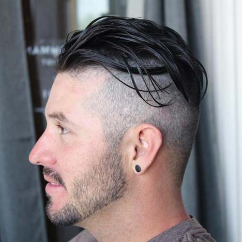 Perfect Haircuts For Balding Men   Undercut With Long Slicked Back Top
