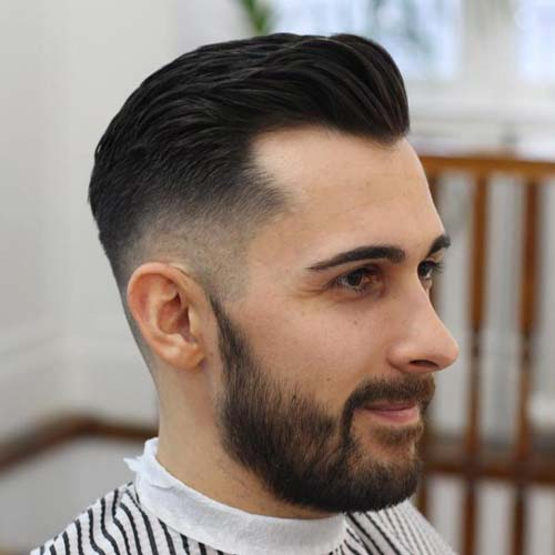 Hairstyles For Balding Men hairstyles for balding men with long hair haircut for men haircuts for thinning hair 2016 haircuts Hairstyles For Balding Men Fade With Brush Back And Beard