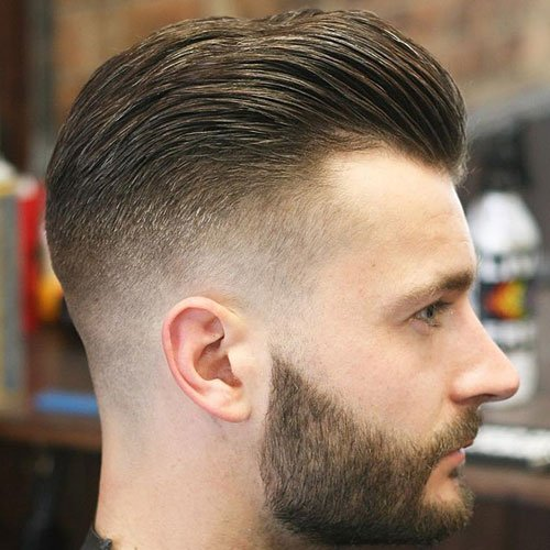 Men's Hairstyles For Widow's Peak - Slick Back