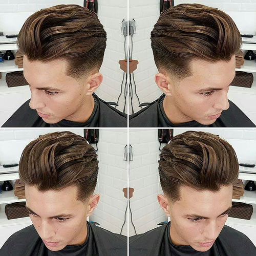 Widow's Peak Hairstyles - Textured Slick Back