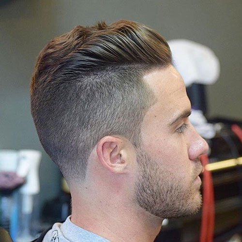 Best Haircuts - Undercut with Brushed Back Wavy Hair