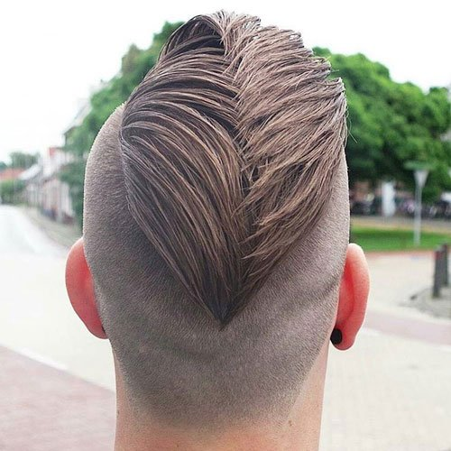 Best Hairstyles For Men - Slicked Back Faux Hawk with Undercut