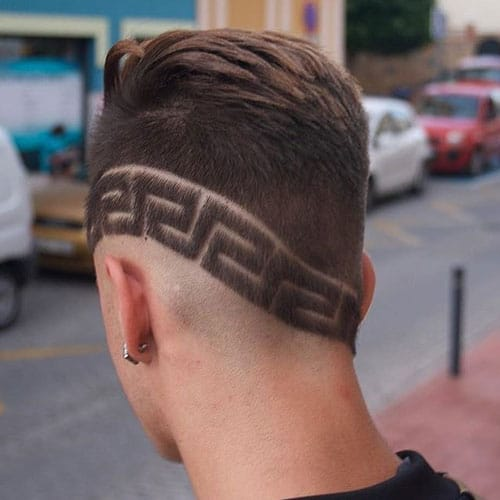 Brush Back with Cool Hair Design