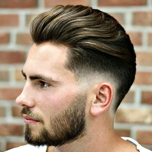 Superb Brush Back With Low Fade