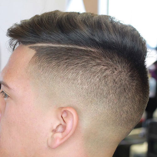 Disconnected Undercut and Comb Over