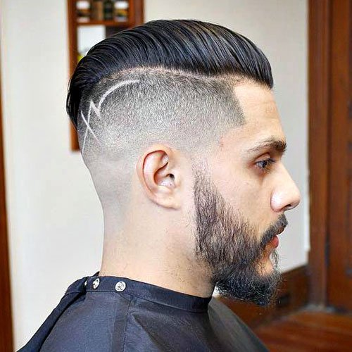 Disconnected Undercut with Comb Over and Hair Design