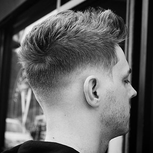 Drop Fade with Textured Brushed Up Hair