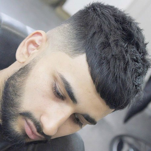 French Crop + High Taper Fade + Beard
