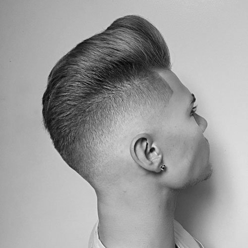 High Bald Fade with Pompadour