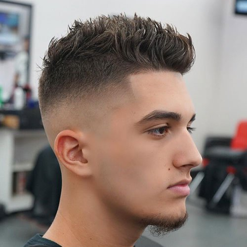 High Bald Fade with Shape Up and Wavy Spiky Hair