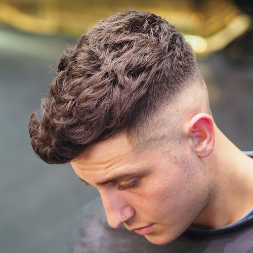 High Skin Fade with Quiff and Brush Up