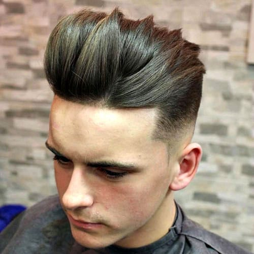 Long Textured Top + Mid Fade