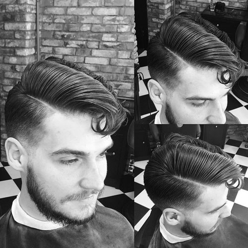 Low Fade and Comb Over with Fringe