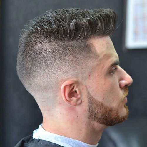 Popular Hairstyles - Quiff with High Skin Fade