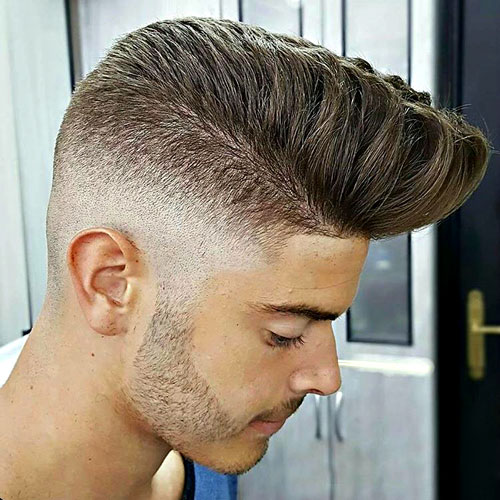 Popular Men's Haircuts - Pompadour with High Skin Fade