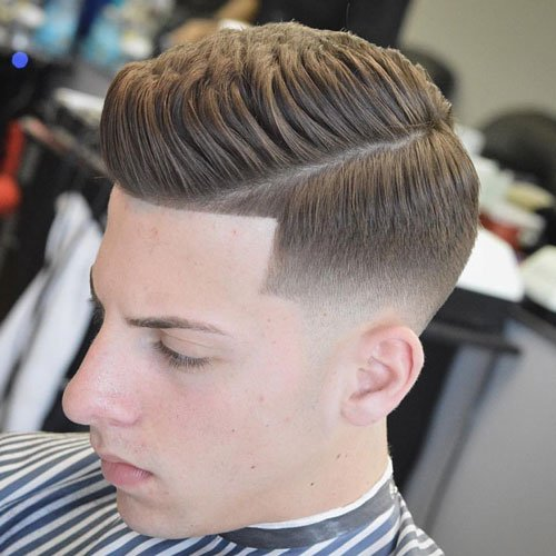 Classic Mens Hairstyles classic mens hairstyles style 3 Classic Hairstyles Quiff With Mid Bald Fade