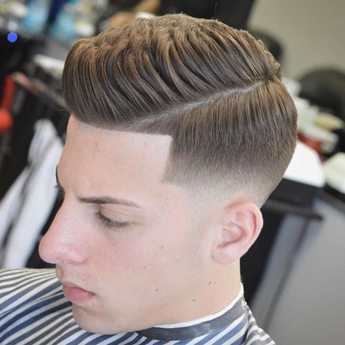 Classic Hairstyles - Quiff with Mid Bald Fade
