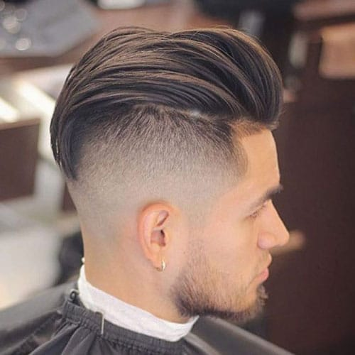 Short Undercut with Long Textured Slick Back