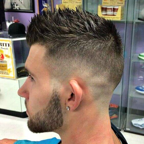 Spiked Hair + High Skin Fade