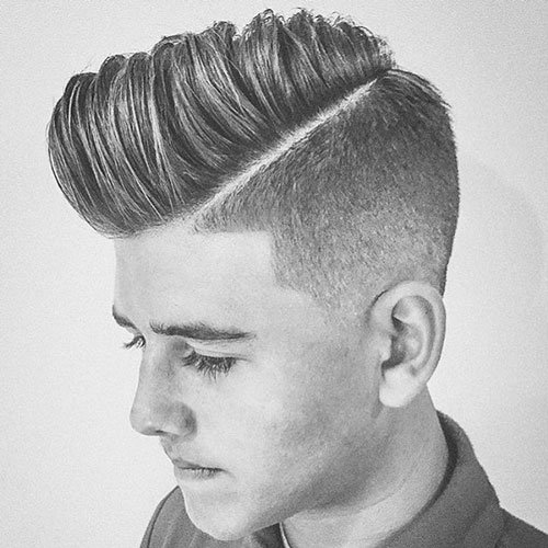 Undercut with Comb Over