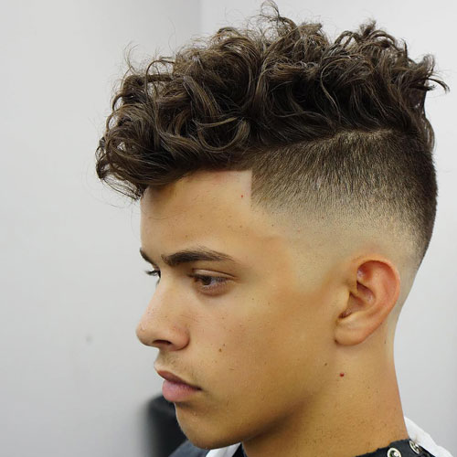 Undercut with Curly Thick Hair