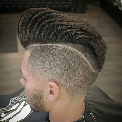 Disconnected Undercut + Pompadour + Tram Line