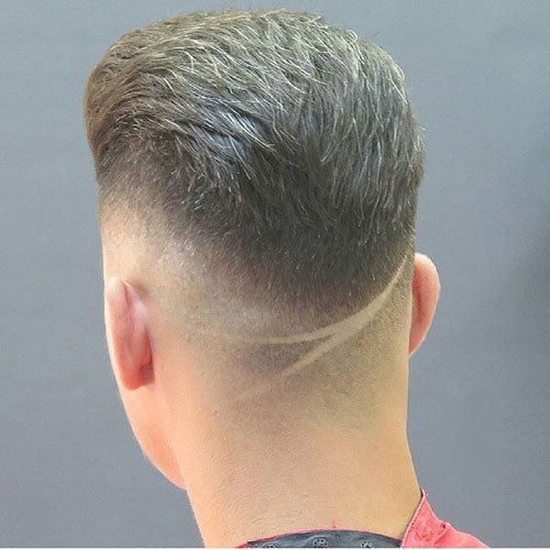 Drop Fade Haircut - Textured Slick Back with Hair Design