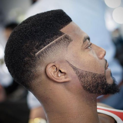 Drop Top Fade + Line Up + Beard