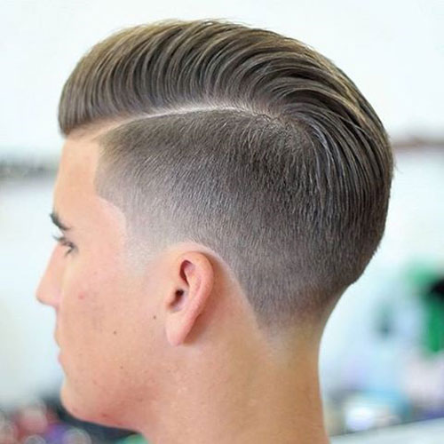 Easy Haircuts Comb Over with Razor Fade
