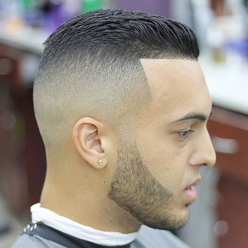 Edge Up Hair - Brushed Back Crew Cut + Skin Fade