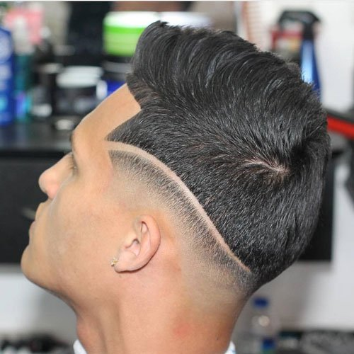 Haircut Lines - Hi Lo Fade + Textured Spiky Hair