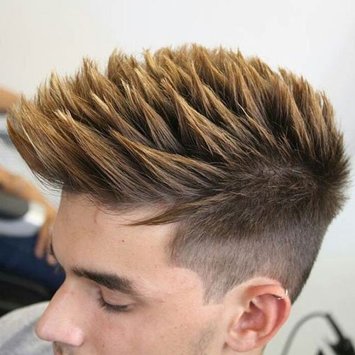 Haircuts for Men with Straight Hair - High Fade with Thick Textured Spikes