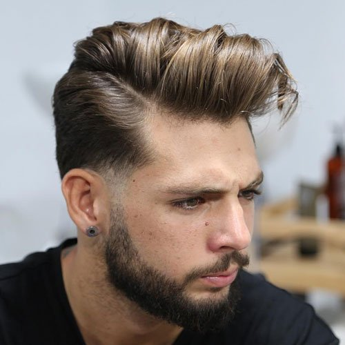 Hard Part Comb Over Disconnected Beard