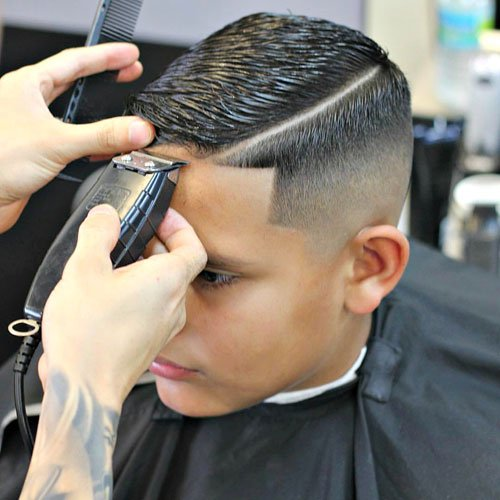 Hard Side Part with High Skin Fade and Shape Up
