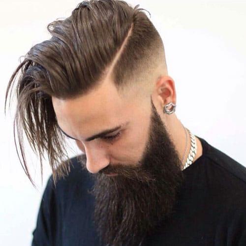 bald fade comb over