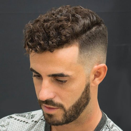 High Fade with Natural Curly Hair