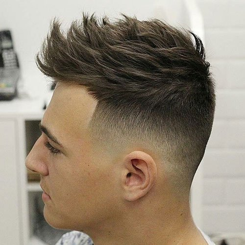 High Fade with Quiff