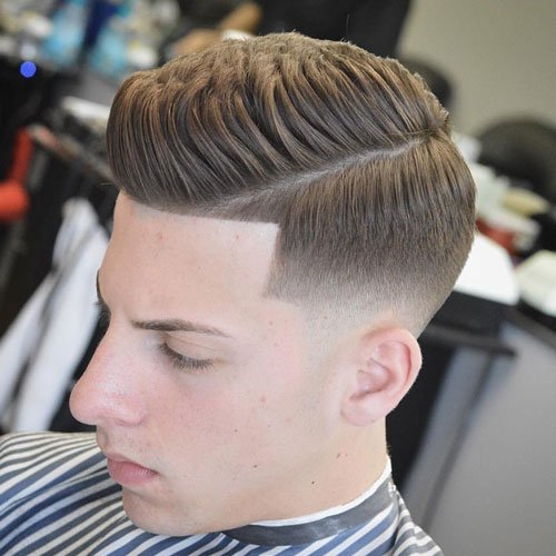 Low Skin Fade with Shape Up and Thick Spiky Hair