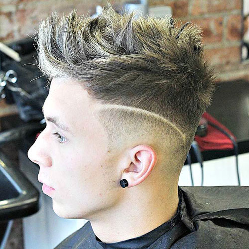 Low Taper Fade with Messy Spiky Hair