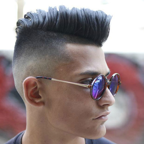 Modern Men's Haircuts - Undercut with Shape Up and Thick Comb Over