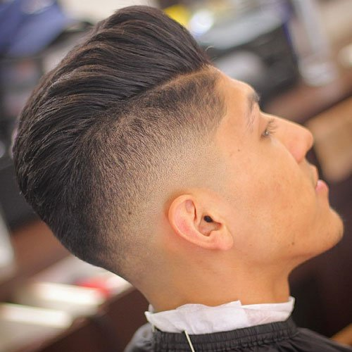 Pompadour with Drop Fade