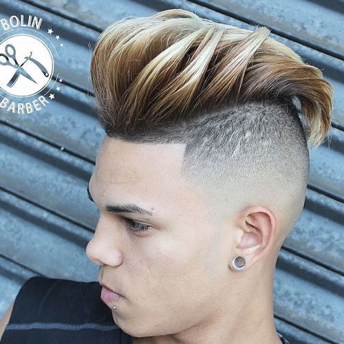 Pompadour with Undercut and Shape Up