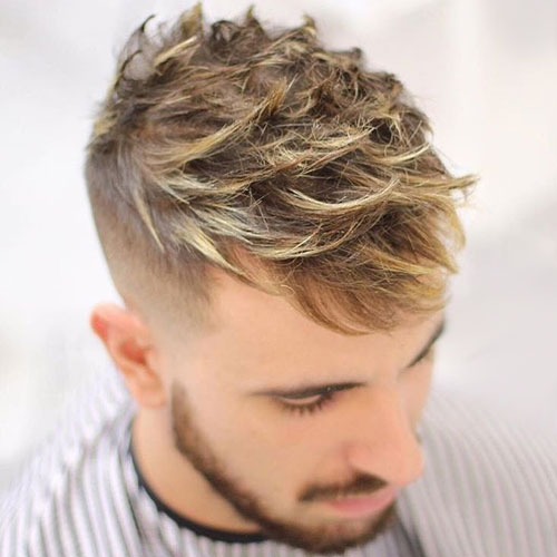 Quiff with Fade and Highlights
