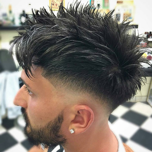 Shape Up Hair - Low Drop Fade + Messy Spiky Hair
