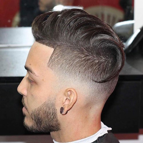Image result for Low skin high fade comb over images