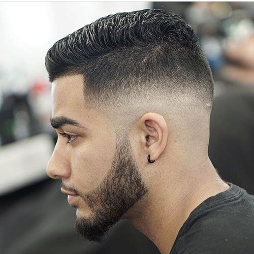Short Spiky Hair with Low Skin Fade and Line Up