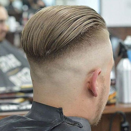 Slicked Back Hair + Skin Fade