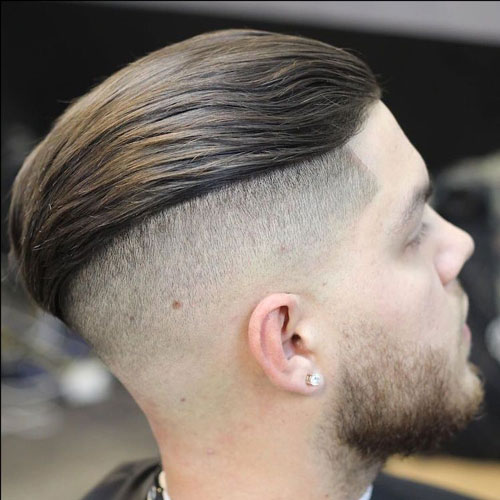Slicked Back Undercut with Beard