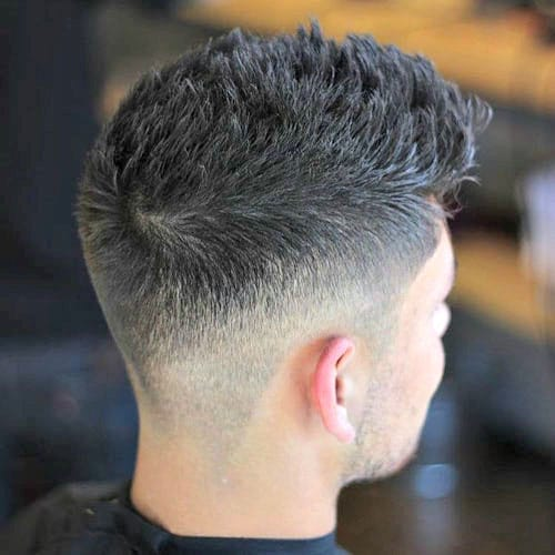 Spiky Hair with Taper Fade